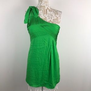 Alice + Olivia Size Small Silk One Shoulder Dress